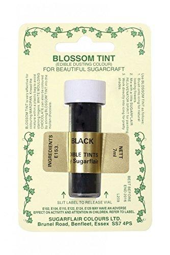 Sugarflair Blossom Tints Essbare Puderfarben Lebensmittelfarbe Fondant Puder Black Schwarz