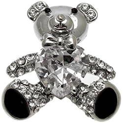Acosta - Corazón de cristal - oso de peluche de broche