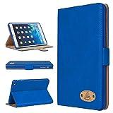 Apple iPad Alle Modelle/Genuine Luxus Chefsessel Leder Fall Gorilla Tech Marke Smart Schutzhülle Designer Cover mit Aufsteller aus Schutz mit Stil Serie in Retail Verpackung dunkelblau iPad Pro 12.7