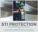 Selbstklebende Schutzmatte im Doppelpack, Wandschutz, Garagenschutz, Türschutz, Türkantenschutz für die Autotür an der Garagenwand, bewahrt vor Lackschäden, universeller Stoßschutz STI PROTECTION
