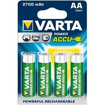 Varta Power Accu NiMH Akku AA Mignon 2700 mAh 4er Pack
