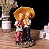 q-glory Garten Figuren Chinesische Home Dekoration Zubehör Kunstharz Figuren MINIATURAS de bonecos Figuren aus Home, Love Paare