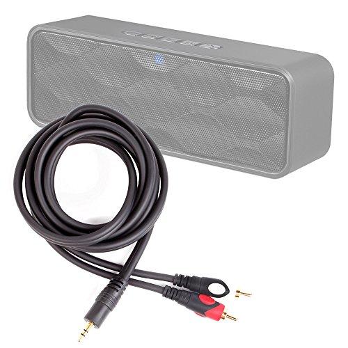 DURAGADGET Excelente Cable De Audio Minijack/RCA para Altavoz Portátil ZoeeTree S1, Zoee S2 - Bañado En Oro
