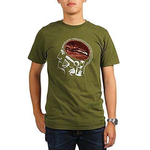 CafePress - Coffee For Brains - Organic Men's T-Shirt, Soft