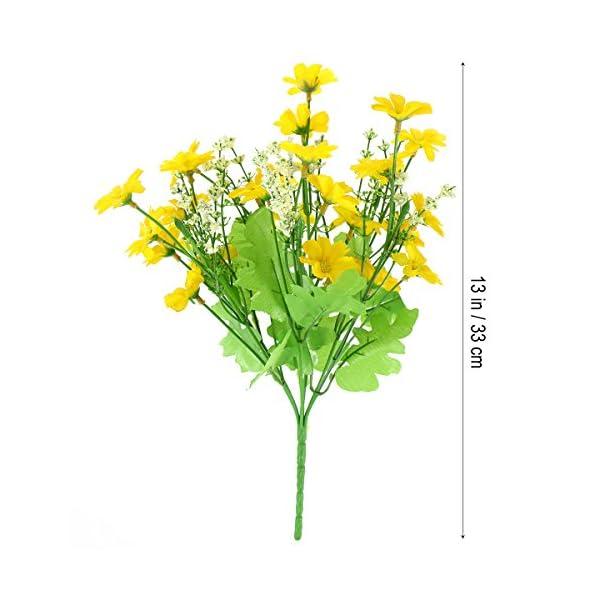 WINOMO 3 unids Artificial Silvestre Flores de Crisantemo Simulación de Seda Daisy Bouquet Planta Paquete para la…