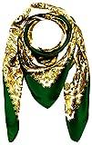 LORENZO CANA Dame panno barocco sciarpa di seta verde faschen Verde Oro Bianco Panno Di Seta 100cm x 100cm 89009