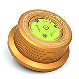 Viborg Audio 60Hz lp628g Gold 3in 1Piastra morsetto LP Disc Stabilizer giradischi Per le vibrazioni ausgeglichen