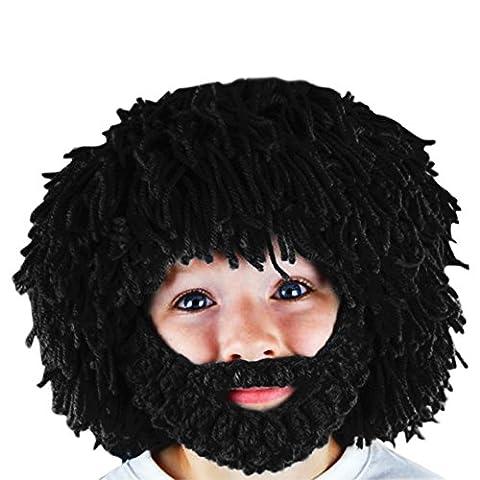 Noir Sorcière Perruque - CHIC-CHIC Cagoule Masque Enfant Bébé Tour de