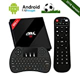 [2018 Modello] UKSoku Smart Android 7.1 TV Box con Mini Tastiera Wireless, 3GB / 32GB 4K H96 Pro Plus Set Top Box con Amlogic S912 64bit Octa-core 2.4GHz / 5GHz WiFi 1000M LAN Bluetooth 4.1 H.265 3D