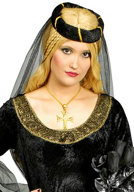 Schwarze Prinzessin Burgfräulein Kostüm Gr. 40 42 - 3