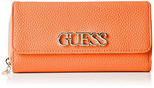 Guess Damen Uptown Chic Slg Lrg Cltch Org Handgelenkstasche, Schwarz (Orange) 19.5x10x3.5 centimeters
