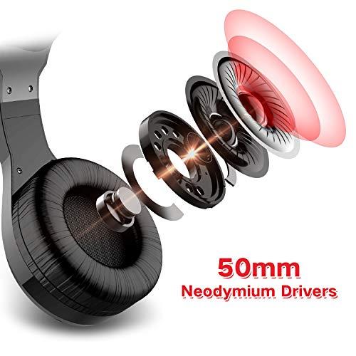 Auriculares Gaming PS4 HAVIT Iluminación RGB Cascos Gaming sonido envolvente,  controlador de 50MM y micrófono con reducción de ruido para Xbox One/PC/Móvil (2011d, Negro)