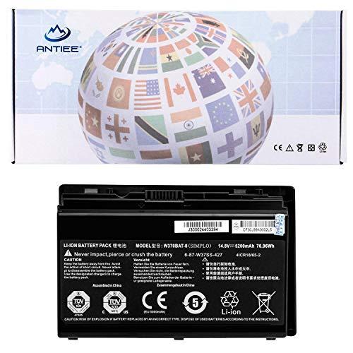 ANTIEE W370BAT-8 Batería para Clevo 6-87-W370S-4271 6-87-W37SS-427  W370BAT-3 Notebook