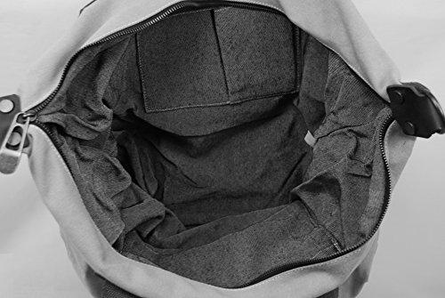 OH MY BAG Sac à main femme en CUIR et TOILE porté main, épaule et bandoulière Modèle VANUATU Nouvelle Collection FRAMBOISE