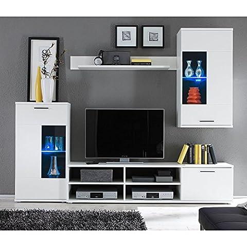 HBZ Wohnwand FRONTAL 1 in weiß Design inklusive