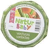 Natur Baby Puré Natural de Verduras Variadas para Bebé - Paquete de 12 x 230 gr - Total: 2760 gr