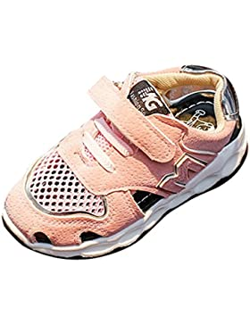 Logobeing Sandalias Niña Bebe Recien Nacido Correr Zapatillas de Deporte Para Niños Niñas Zapatos Sneaker Antideslizante...