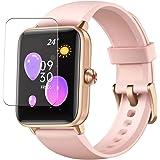 Vaxson 3 stuks beschermfolie, compatibel met Dirrelo GT01 1,55 inch smartwatch, smartwatch, displaybescherming, niet pantserg