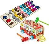 HHNN Holzhamster Spielzeug 0 Kleinkinder Intelligenz Baby 1 2 Und EIN Halbes Jahr Alt 3 Jungen Und Mädchen Baby Schlagen Groß -