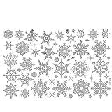 ODJOY-FAN Weihnachten Schneeflocke Aufkleber Entfernbar Wandtattoos Wandaufkleber Fenster Schnee Wandbilder Restaurant Einkaufszentrum Glas Dekor (30 x 45 cm)(Weiß,1 PC)