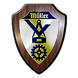 Wappenschild / Wandschild - Müller Zunftwappen Handwerk Müllerhandwerk Meister Beruf Ausbildung Wappen #12907