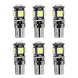 Muchkey LED Standlicht Weiss für Escape Kuga 2013 LED Standlicht Lampe Birne Licht 6tlg