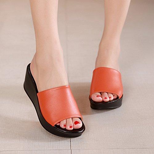 ZPPZZP Ms sandali pantofole spessa pendenza come segue 40EU