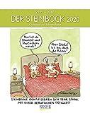 Steinbock 2020: Sternzeichenkalender-Cartoonkalender als Wandkalender im Format 19 x 24 cm. -