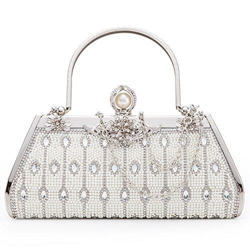 Damentaschen Symbol Der Marke Luxus Abendtasche Handtasche Perlen Kristall Tasche Schultertasche Brauttasche Hochzeit & Besondere Anlässe