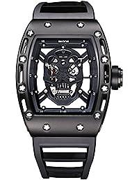 YPS Mann-Piraten-Schädel-Art-Militärsilikon-Art- und Weisebeiläufige Quarz-Armbanduhr WTH5235
