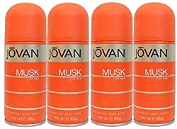 Jovan Combos In Mens Deo The Musk Body Spray - For Men (600 ml, Pack of 4)