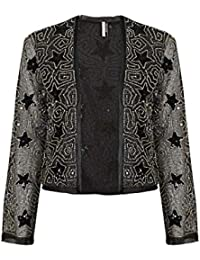 Topshop Metallic Gold Star Print Embellished Jacket UK 10 / EURO 38 / US 6 - Brand New With Tags