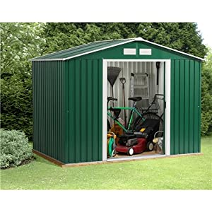 51e8ihhpimL. SS300  - Oslo 8FT x 8FT VALUE METAL SHED (2.61m x 2.42m)