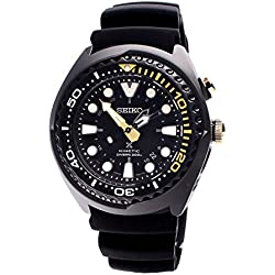 Seiko men's Automatic Watch Analogue Display and Silicone Strap SUN045P1