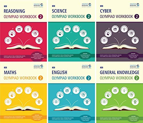Reasoning, Maths, Science, Cyber, English & GK Olympiad Workbook Combo - Class 2