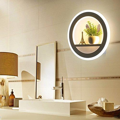 Ehime Die kreativen Dekor personalisierte Anlage led Wandleuchte Schlafzimmer Bett minimalistischen modernen Gang Treppen wand Licht ohne optische Quelle - Anlage-quelle Eisen