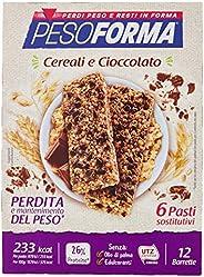 Pesoforma, Barrette Cereali e cioccolato, 6 Pasti, 1 Unità