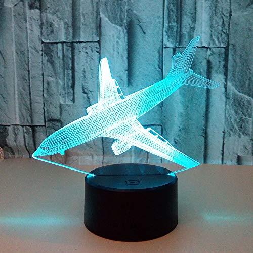 Avión de aire Fuente de luz nocturna 3D Aviones de combate Acorazado Lámpara de escritorio con luz 3D Jet Decoración para el hogar LED USB Bebé Lámpara de cabecera Deco Regalo ## 5