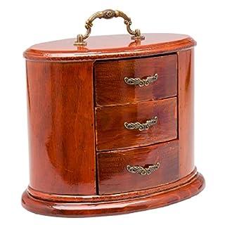 Schmuckschatulle Schmuckkasten oval antik Stil Dose Box Holz für Schmuck
