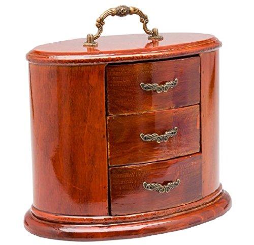 aubaho Schmuckschatulle Schmuckkasten oval antik Stil Dose Box Holz für Schmuck