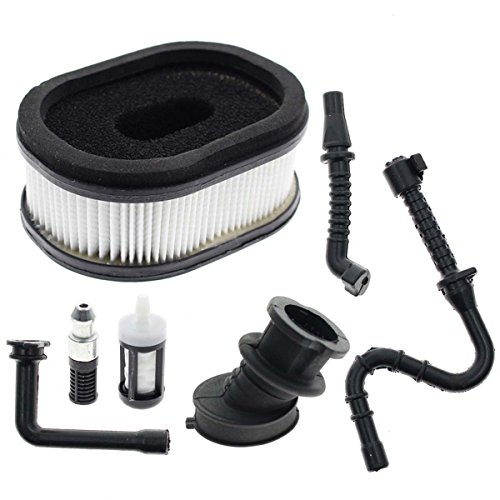 Carbhub Air Filter for STIHL 044 046 MS440 MS460 Chainsaw Carb with Fuel /  oil Line Filter Impulse Line Intake Manifold Boot