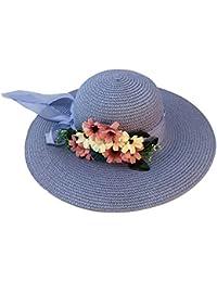 Screenes Moda Sombrero para Verano El De Sombrero Sol Paja para Estilo  Simple Mujer Sombrero De ee799b48ab07