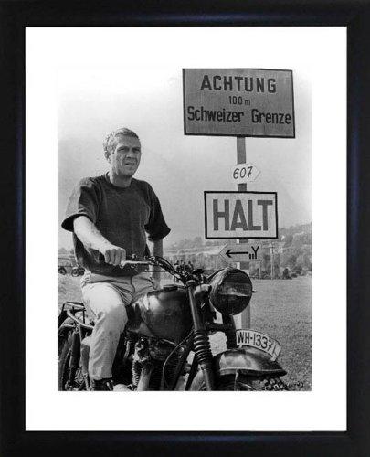 Steve McQueen gerahmtes Foto -