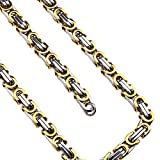 ENET 316L - Collana da Uomo e Donna, in Acciaio Inossidabile, Argent & Gloden, Bracelet & Collier