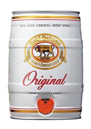 Goldochsen Original Vollbier Gold Ox Original full beer 5 liters 5.1% vol. keg