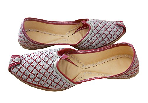 KALRA Creations Herren Schuhe Traditionelle Maroon Leder Ethno Kastanienbraun