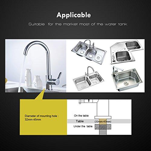 AuraLum 360° Drehbar Niederdruck Wasserhahn Niederdruck Mischbatterie Küchenarmatur - 4