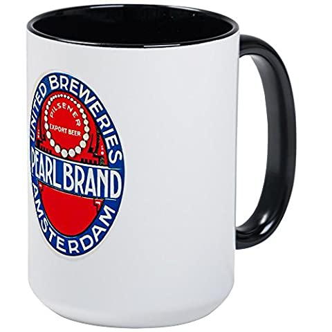 CafePress - Holland Beer Label 12 - Coffee Mug, Large 15 oz. White Coffee Cup