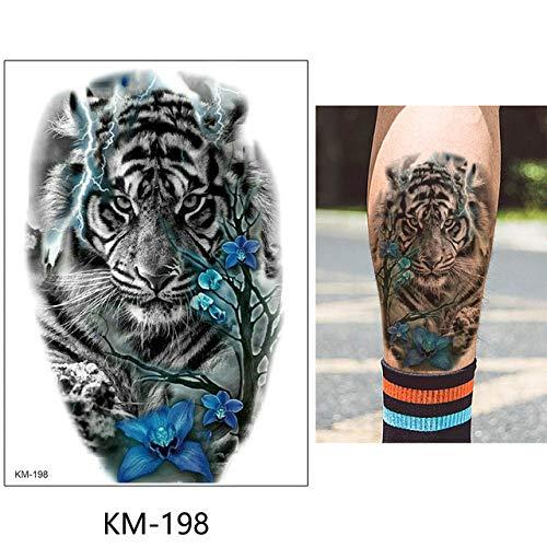 3 pezzi foglio adesivo tatuaggio temporaneo fiore animale finto tatuaggio tatoo km-198 15x21 cm
