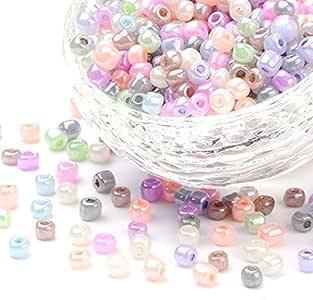 tonalit/à pastello La Boutique de Karine multicolore diametro 4 mm 6//0 Lotto di 500 perline Rocailles